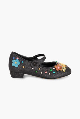 Ballerina Cinturino Glitter Shoes