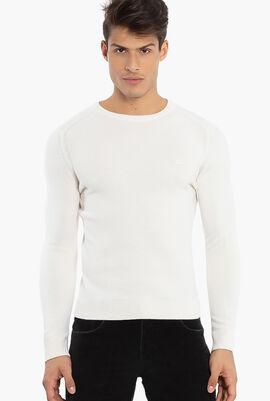 Crew Neck  Wool Blend Sweater