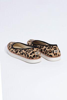 Kammi Calf Hair Chestnut Leopard Flats