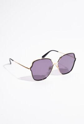 Two-Tone Oval Sunglasses