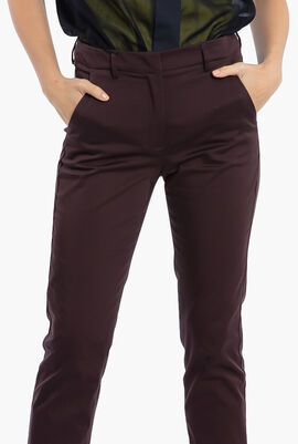 Cigarette Slim Fit Stretch Chino Pants