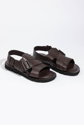 U Glenn C Croc Coffee Sandals
