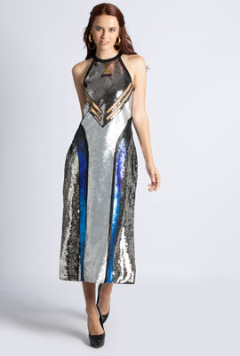 Ciriaco Jersey  Sequined Dress
