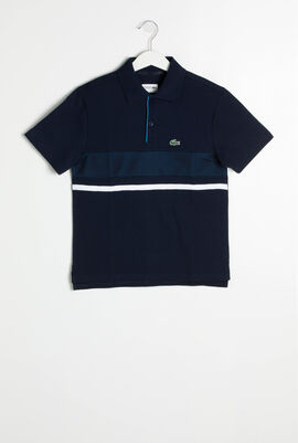 Mesh Panel Ultra Light Polo Shirt