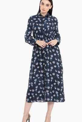 Floral Print Long Sleeves Dress