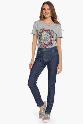 Stitched Skinny Jeans