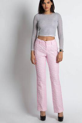 Floral Cloque Long Pants