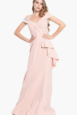 Off The Shoulder Evening Gown