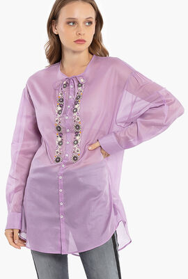Floral with Crystal Embellishment Shirts