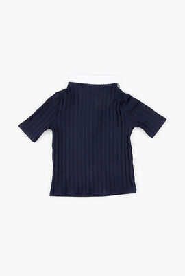 Ribbed Shirt with Collar