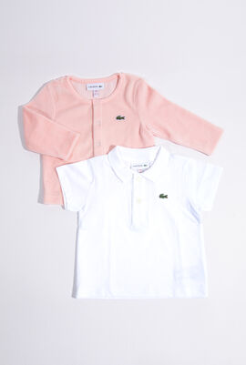 Cotton Jersey Polo And Cardigan Gift Set