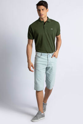 5-Pocket Faded Denim Bermuda