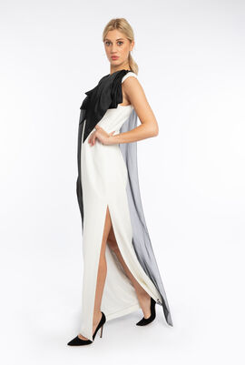 Organza Cape Bow Dress
