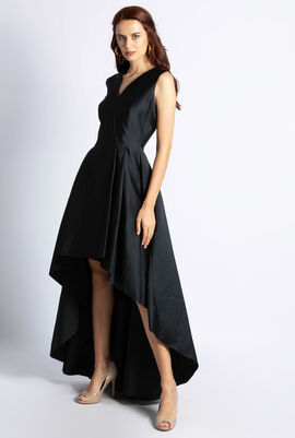 Satin Short Front Gown