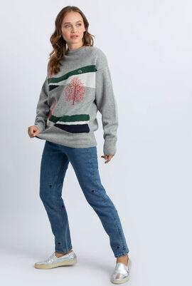 Winter Design Jacquard Sweater