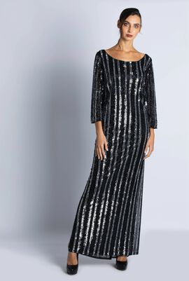 Dadaismo Sequined Dress