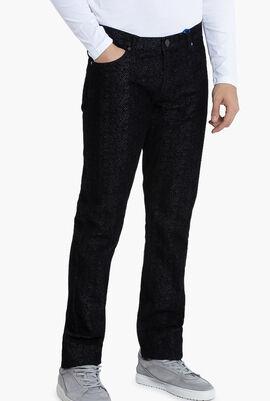Versace Jeans Herringbone Pattern Slim Fit Pants