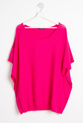 Plain Short Sleeves Sweater