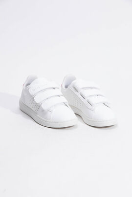 Courtset INF Sport Logo Optical White/Pink Carnation Sneakers