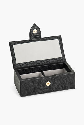 Panama Black Mini Cufflink Box