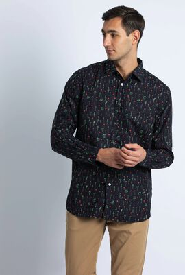 Floral Print Tailored Long Sleeve Shirts