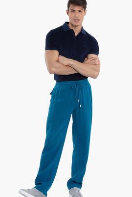 Solid Linen Drawstring Pants