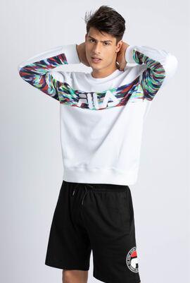 Water Oil Slick Paneled Sweatshirt