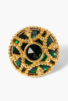 Sapphire in Gold, Round Ring, 58mm