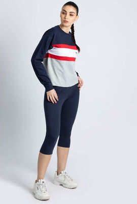 Kaley Colourblock Crop Sweatshirt