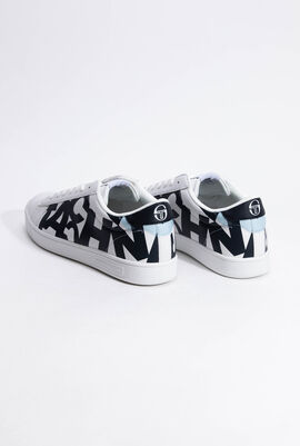 Gran Mac Print White/Navy Sneakers