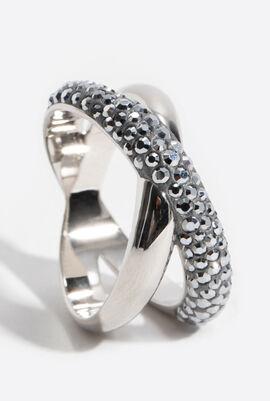 Crystaldust Cross Ring, 58 mm