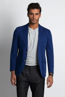 Washed Cotton Bright Blue Jacket