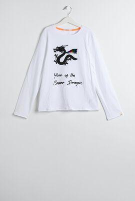 White Super Dragon T-Shirt