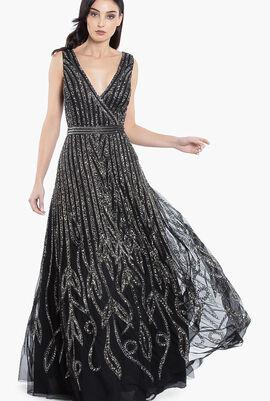 Art Deco Sequin Gown