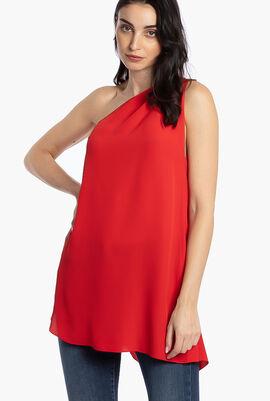 One Shoulder Graham Dress