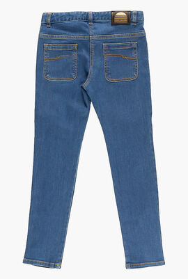 Contrasting Denim Jeans