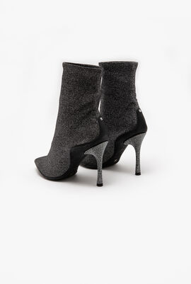 Glittered socks ankle boots
