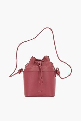 Chantaco Leather Drawstring Bucket Bag