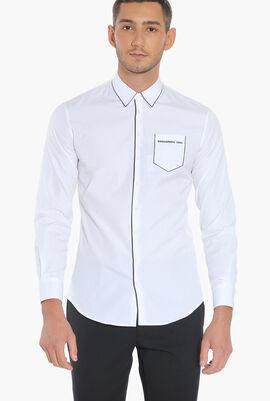 Logo Pocket Long Sleeves Shirt