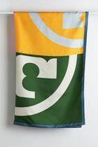 Color-Block Logo Silk Square Scarf