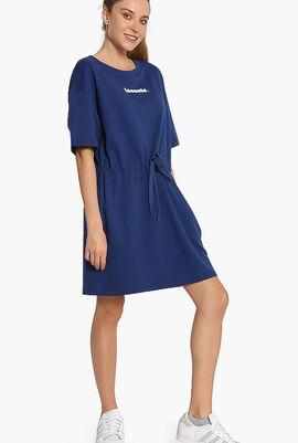 Logo Cotton Fleece T-shirt Dress