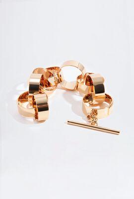Large Round Chain Linked Bracelet