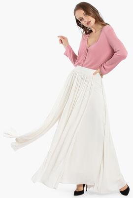 Cachi Jersey Long Skirt
