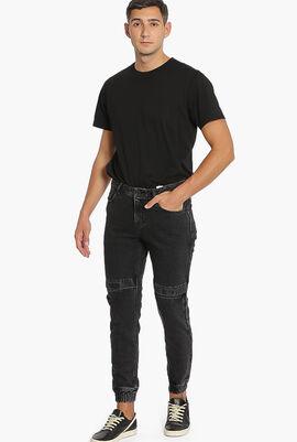 Zip Biker Cuff Jeans