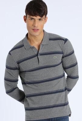 Stripes Regular Fit  Long Sleeve Polo Shirt