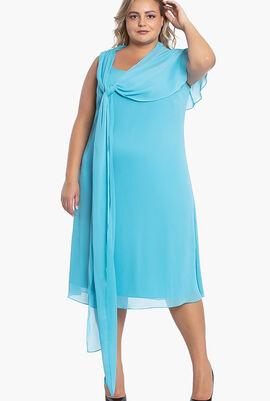 Durata Dress with Shawl
