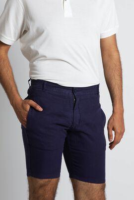 Plain Linen Shorts