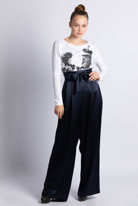 High Waisted Satin Pant