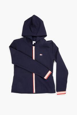 Hoodie Jacket Elasticised Cuff