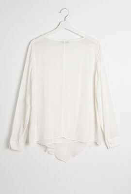 White Long  Sleeves Blouse